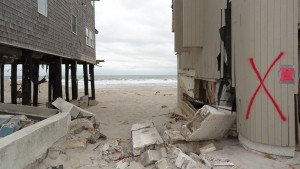 Sandy's wreckage on Ocean Terrace, Brick, just steps from Toms River border, as shown in Nov. 15, 2012 photo Credit: Denise Di Stephan