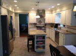 Kitchen Facelift, Granite Countertops, Stainless Steel Appliances, Tiled Kitchen Floor, Stainless Range Hood
